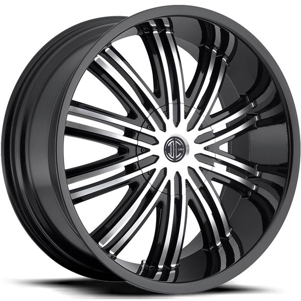 2 Crave No.7 Gloss Black with Machined Face and Black Lip
