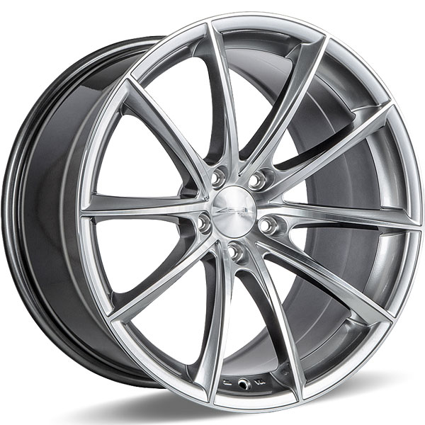 Ace Alloy Convex D704 Hyper Silver with Machined Face