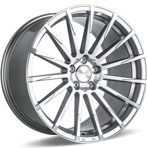 Ace Alloy Devotion D718 Metalic Silver with Machined Face