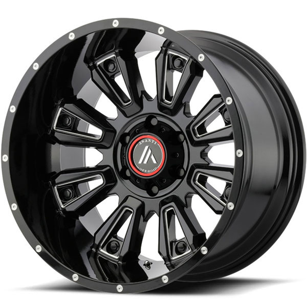 Asanti Off-Road AB-808 Gloss Black Milled
