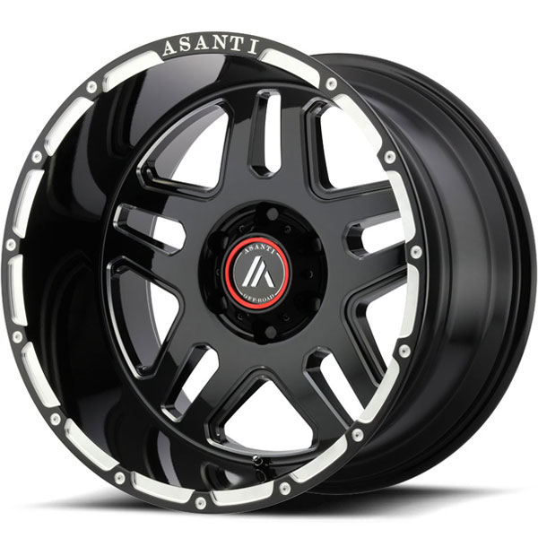 Asanti Off-Road AB-809 Gloss Black Milled