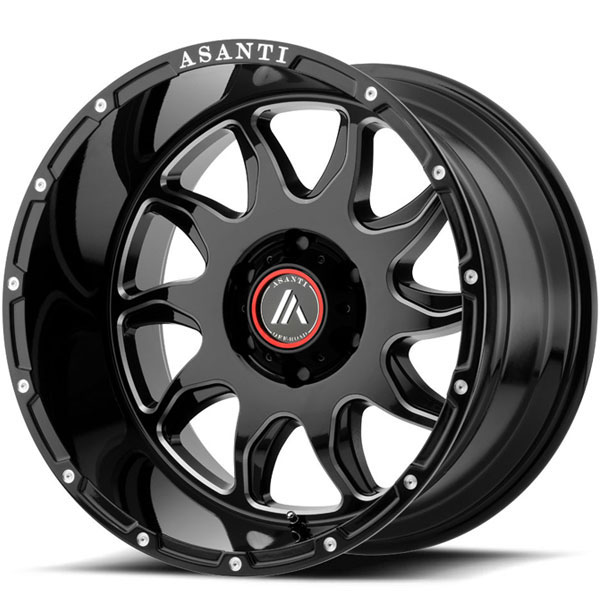Asanti Off-Road AB-810 Gloss Black Milled