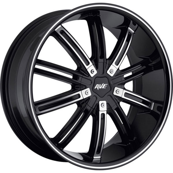Avenue D2 Black with Machined Face