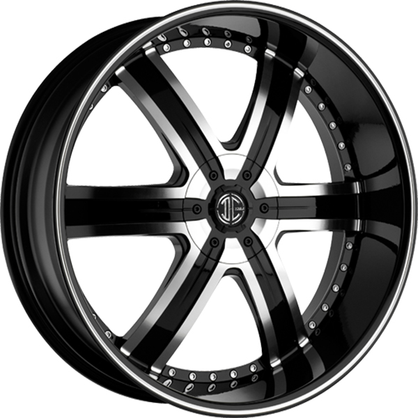 Black Diamond No.4 Gloss Black with Machined Face and Stripe