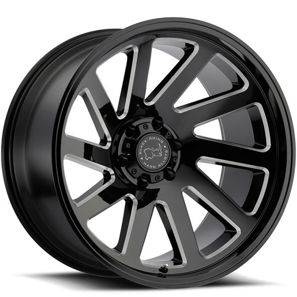 Black Rhino Thrust Gloss Black with Milled Spokes 12 Inch