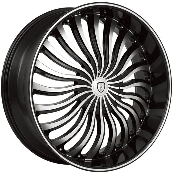 Borghini B24 Black with Machined Face and Stripe