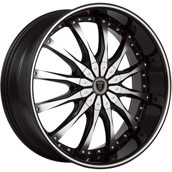 Borghini B8 Black with Machined Face