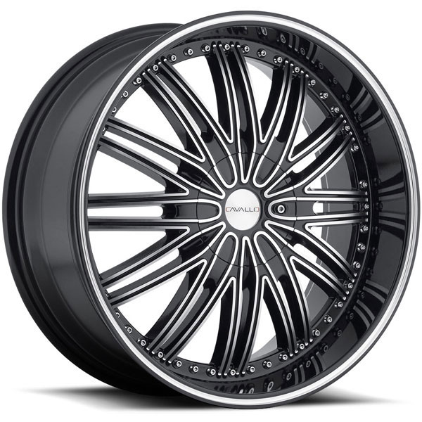 Cavallo CLV-7 Black Machined with Black Lip Machined Groove