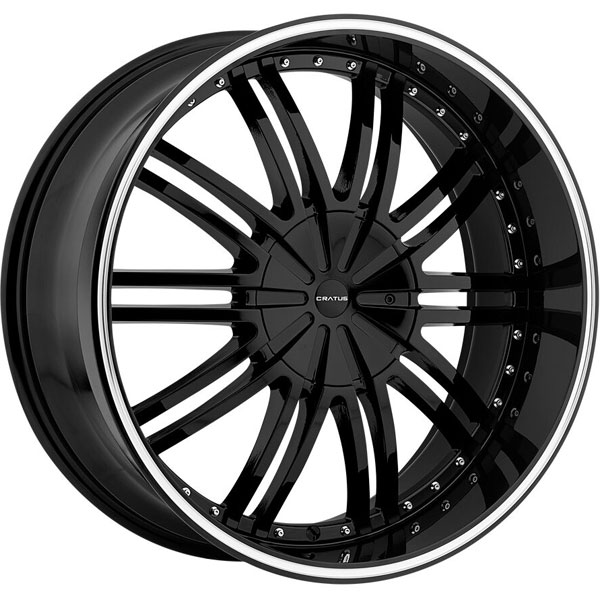 Cratus CR008 Gloss Black with Machined Stripe