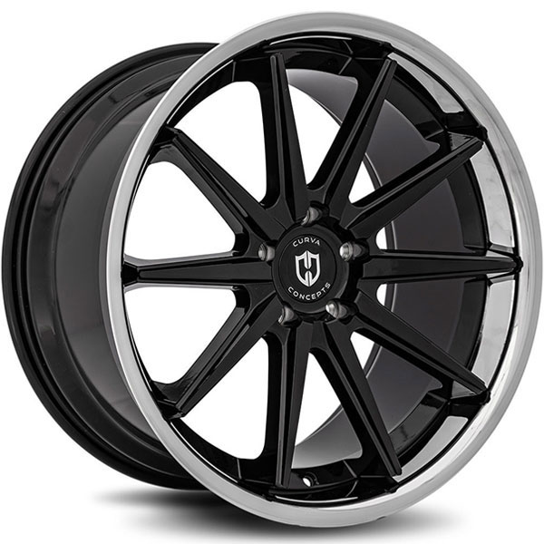Curva Concepts C24 Gloss Black with Stainless Steel Chrome Lip