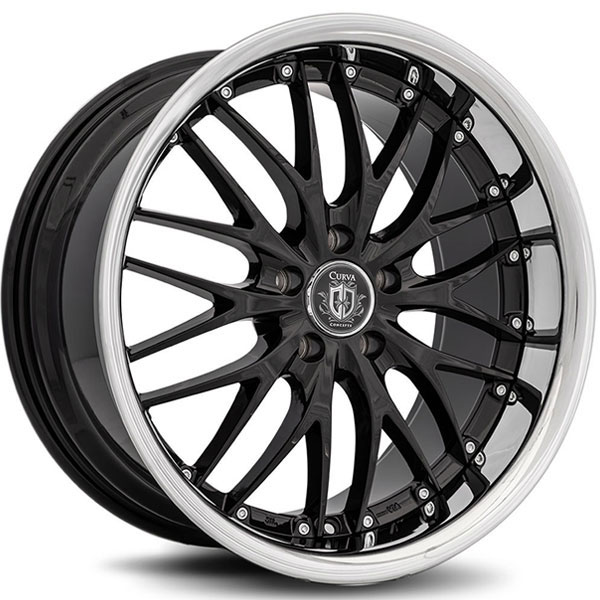 Curva Concepts C3 Black with Stainless Steel Lip