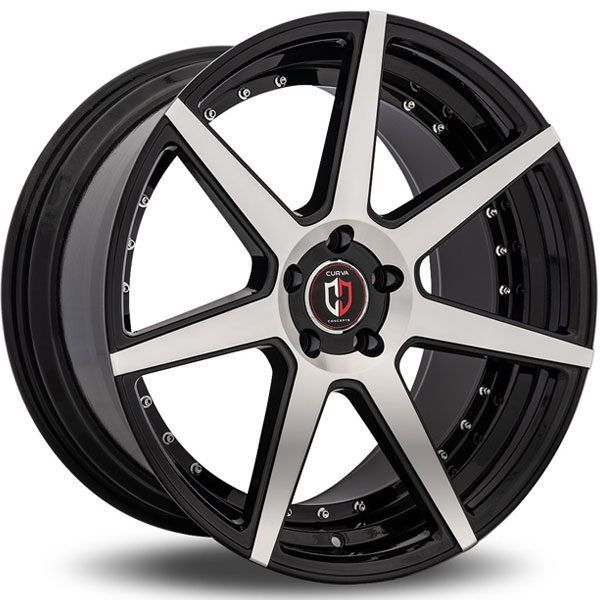 Curva Concepts C47 Black with Machined Face