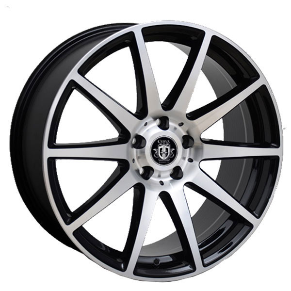 Curva Concepts C49 Black with Machined Face