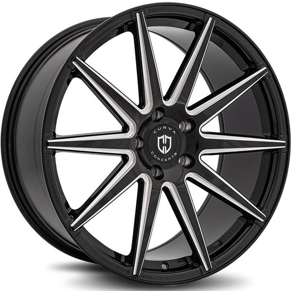 Curva Concepts C49 Gloss Black with Milled Spokes