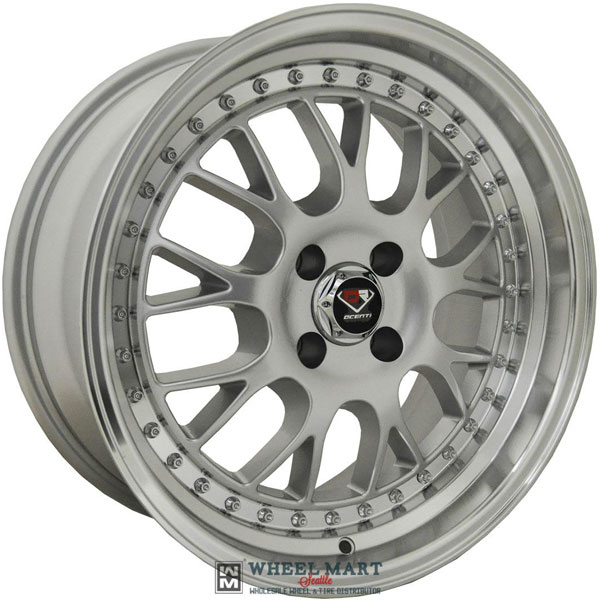 Dcenti Racing DCTL003 Silver with Machined Lip