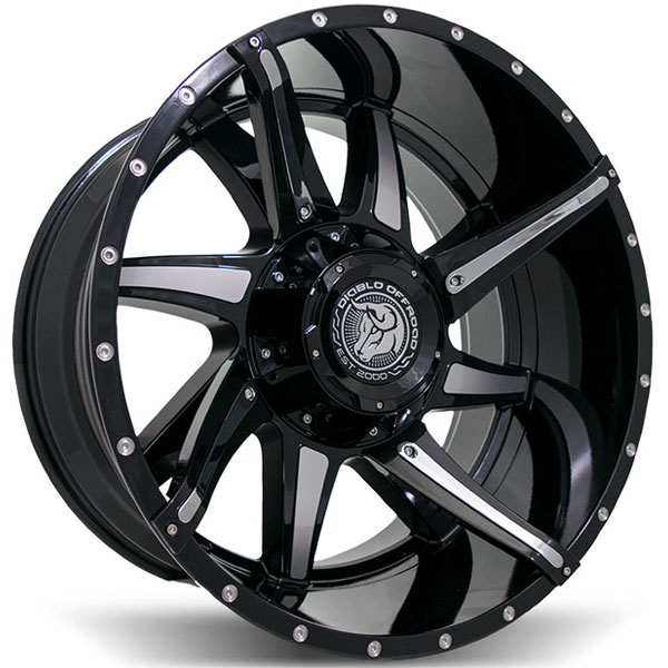 Diablo Offroad Conflict Black with Milled Spokes