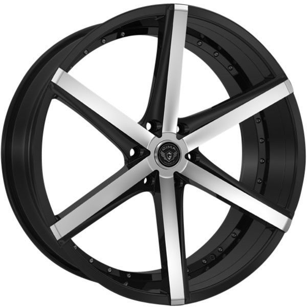 Gima Element 6 Black with Machined Face