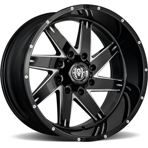 Hardcore Off-Road HC08 Brut Gloss Black Milled