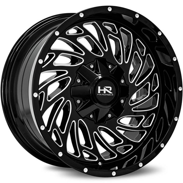 Hardrock Offroad H710 Attack Gloss Black with Milled Spokes