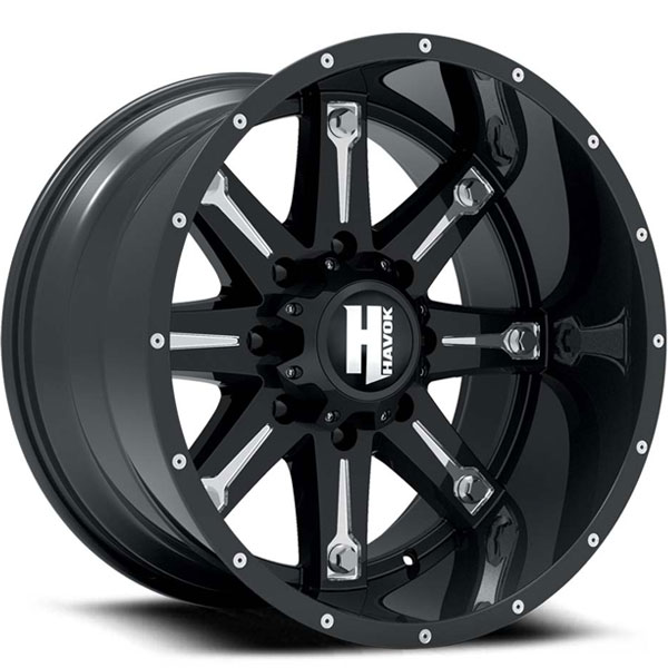 Havok Off-Road H113 Gloss Black with Milled Windows
