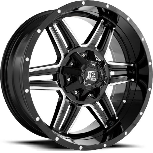 K2 OffRoad K06 Sphinx Gloss Black with Milled Spokes