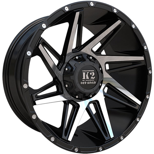 K2 OffRoad K09 Torque Gloss Black with Machined Face