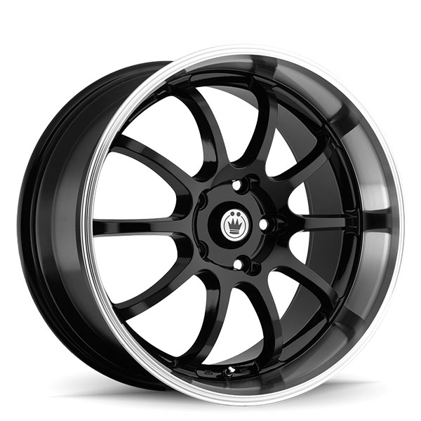 Konig Lightning Gloss Black with Machined Lip