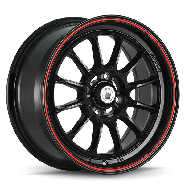 Konig Tweak'D Gloss Black with Red Stripe