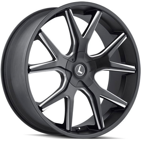 Kraze 146 Splitz Satin Black Milled
