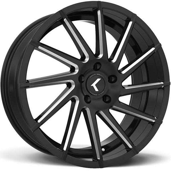 Kraze 181 Spinner Satin Black with Milled Spokes