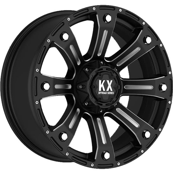 KX Offroad CP77 Matte Black with Milled Spokes