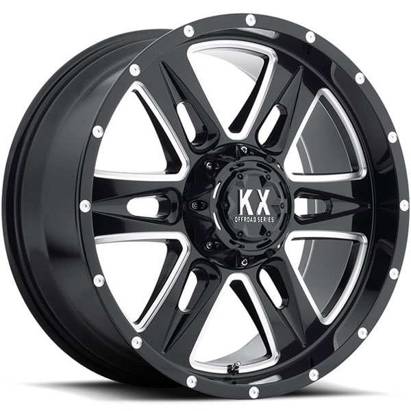 KX Offroad CP78 Gloss Black with Milled Spokes