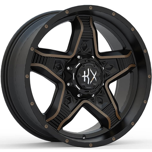 KX Offroad KX14 Matte Black with Machined Face and Bronze Tint