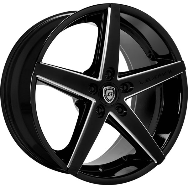 Lexani R-Four Gloss Black with Machined Grooves