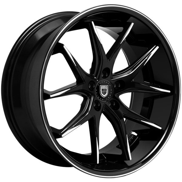 Lexani R-Twelve Gloss Black with Machined Tips