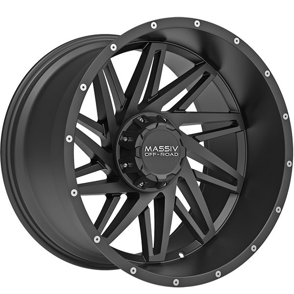 Massiv Offroad OR3 Satin Black with Milled Spokes