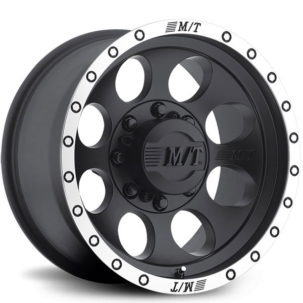 Mickey Thompson Classic Baja Lock Matte Black with Machined Stripe