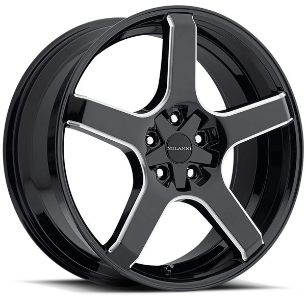 Milanni 464 VK-1 Gloss Black Milled Spokes