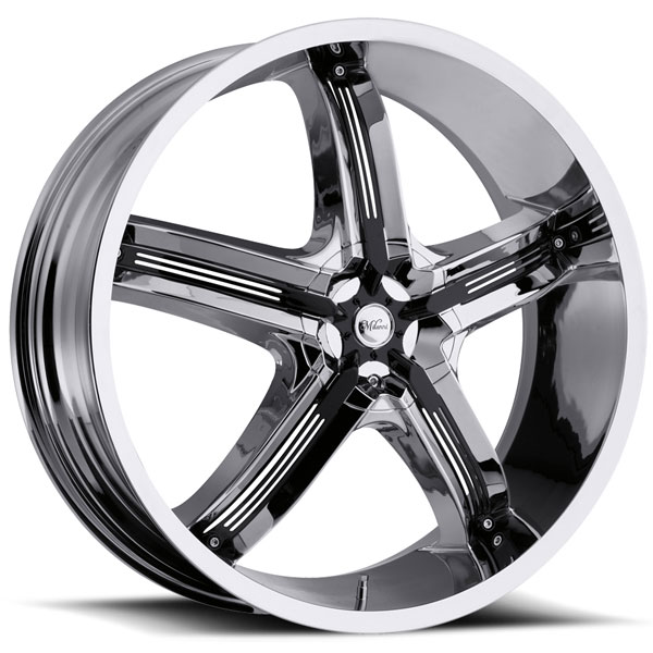 Milanni Bel Air 5 459 Chrome with Black Inserts