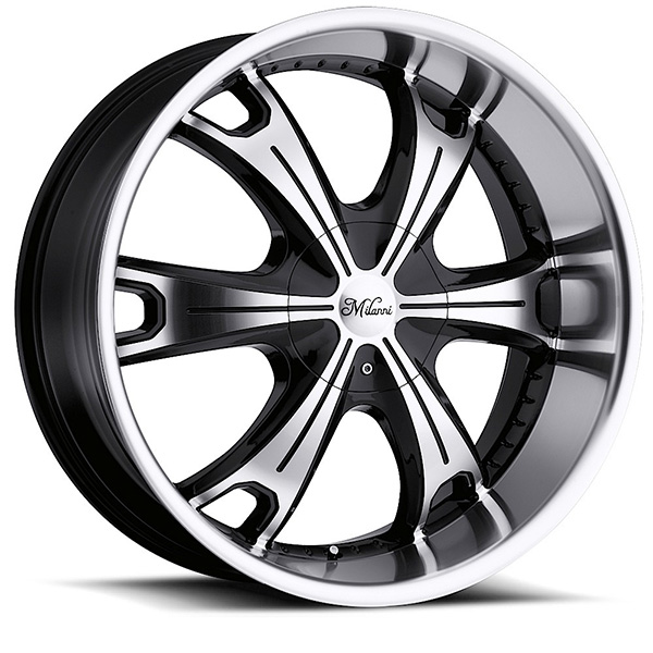 Milanni Stellar 452 Gloss Black with Machined Face