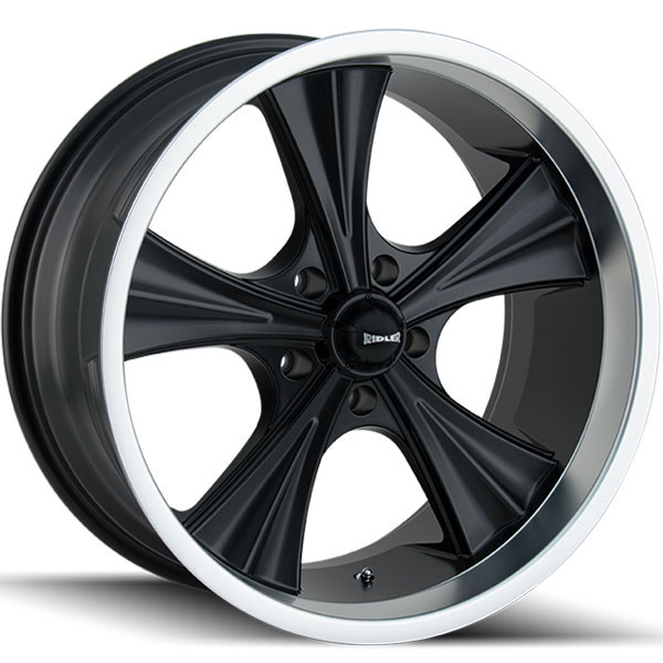 Ridler 651 Matte Black with Machined Lip