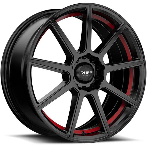 Ruff Racing R366 Satin Black with Red Undercut