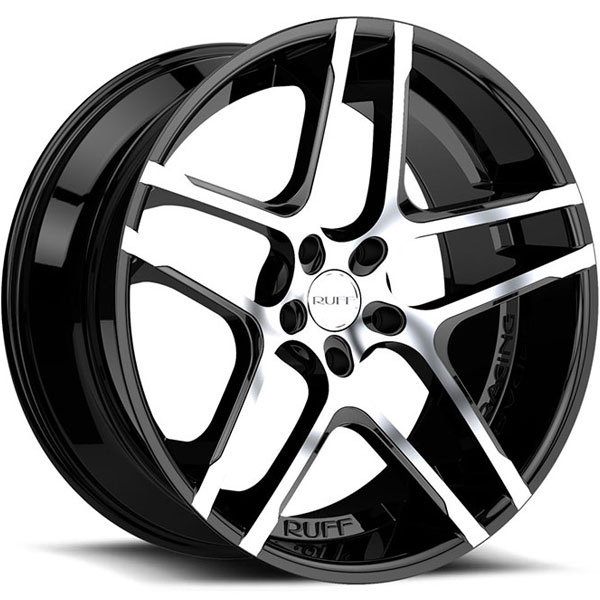Ruff Racing R954 Gloss Black with Machined Face