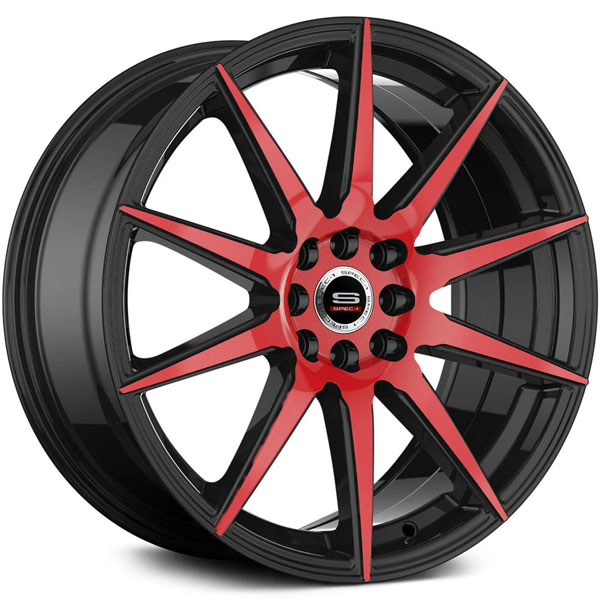 Spec-1 SP-51 Gloss Black with Red Milled Spokes