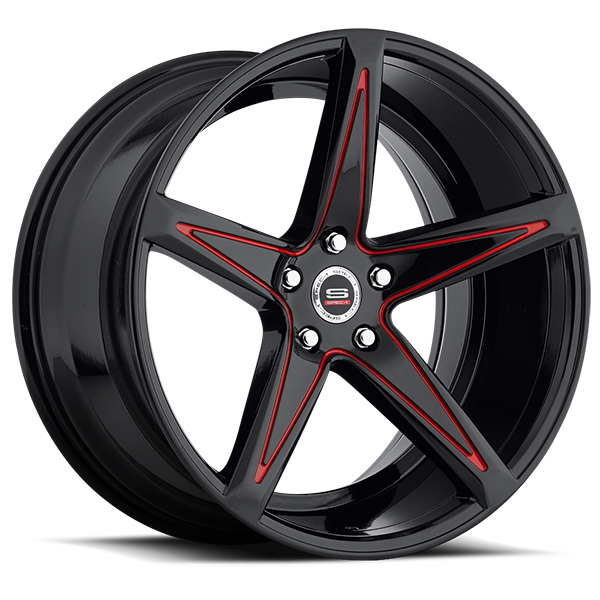 Spec-1 SPM-78R Matte Black with Red