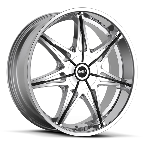 Status S828 Crown Chrome with Black Inserts