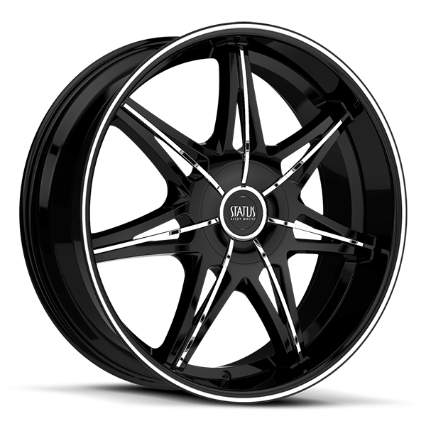 Status S828 Crown Gloss Black with Chrome Inserts