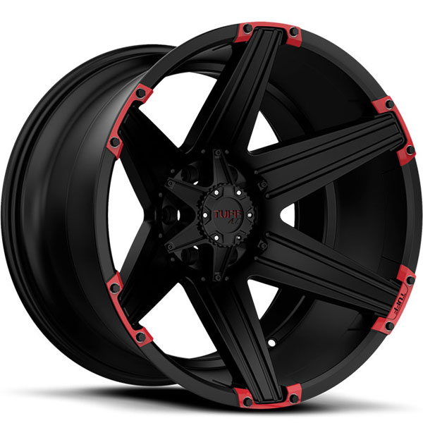 Tuff T12 Satin Black with Red Inserts