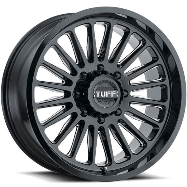 Tuff T5A Gloss Black with Milled Spokes
