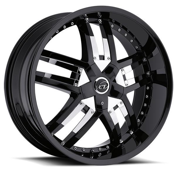 VCT Lombardi Black with Chrome V-Inserts